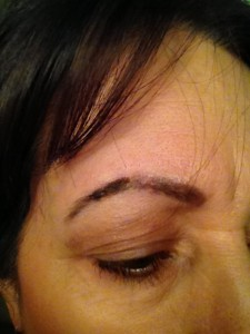 eyebrow removal in transition