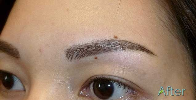 3D eyebrow tattooing